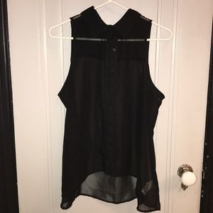 GLO jeans Tops - 🔥Gently Used: Glo XL sheer black tank top 🔥